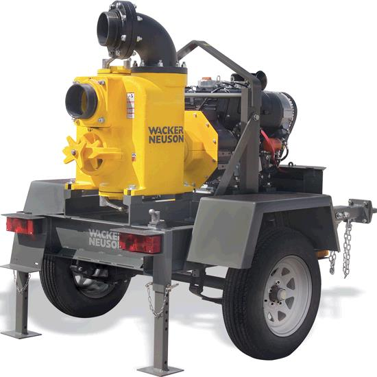 Wacker Light Tower Key: 6 INCH DIESEL TOWEABLE TRASH PUMP Rentals Lexington KY