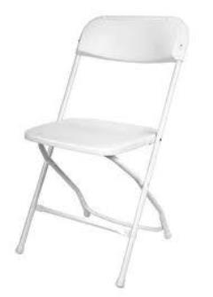 Rental store for CHAIR, WHITE PLASTIC  NO WEDDING in Lexington KY
