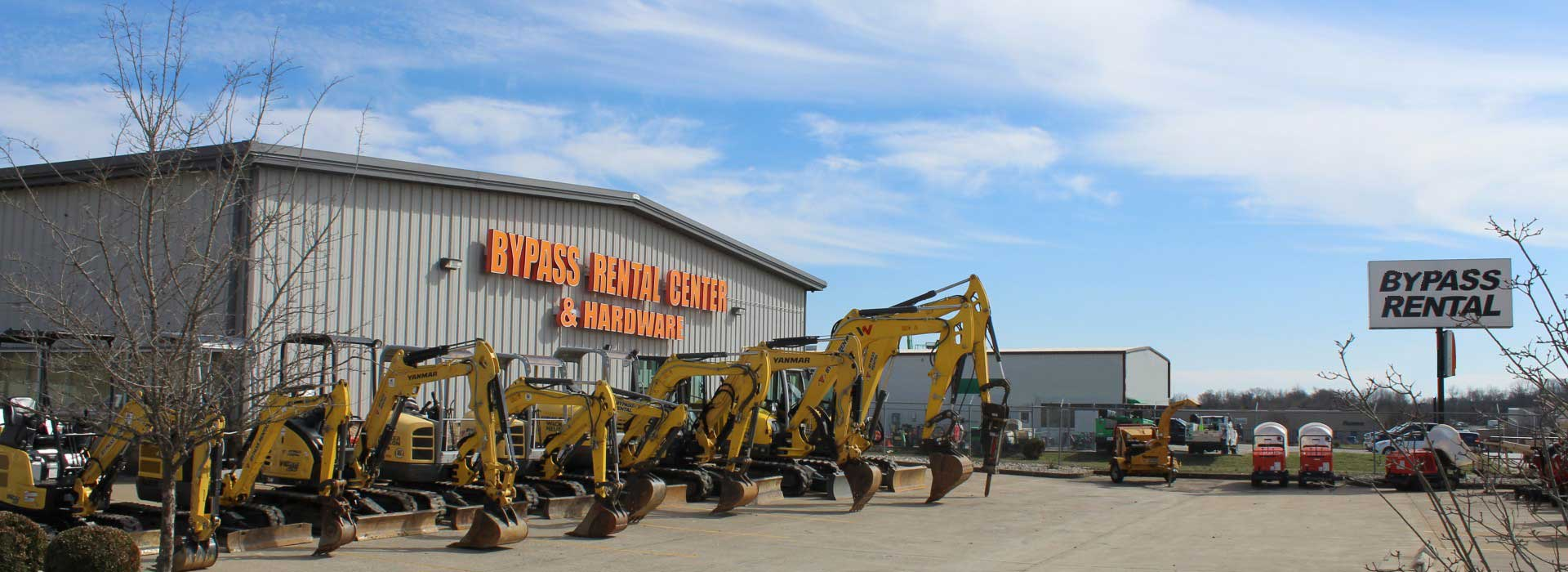 Equipment rental Central Kentucky